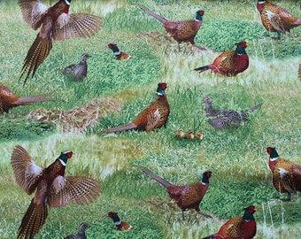 Pheasant fabric by Elizabeth Studios