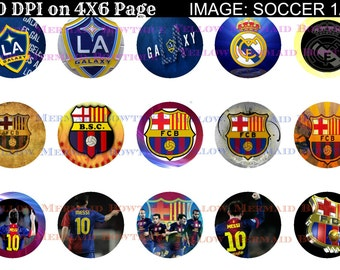 Buy ONE get FOUR FREE Barcelona L A Galaxy Soccer 1 Inch Bottlecap Images  4x6 Sheet