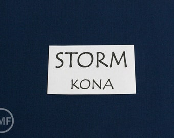 One Yard Storm Kona Cotton Solid Fabric from Robert Kaufman, K001-458