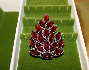 Beautiful Red Rhinestone Clip