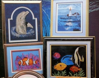 Cross My Heart THE OCEAN (Multiple Designs)  - Counted Cross Stitch Pattern Chart Booklet