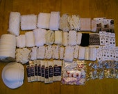 """American Girl doll sewing supplies huge lot, laces buckles buttons trims notions 18"""""""