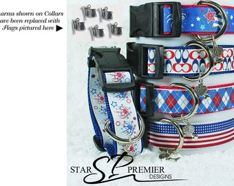 Star's 4th of July Patriotic Dog Collars