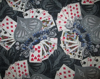 Deck of Cards Games House Of Poker Vegas Cotton Fabric Fat Quarter or Custom Listing
