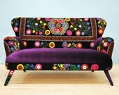 Suzani 2 seater sofa - purple love