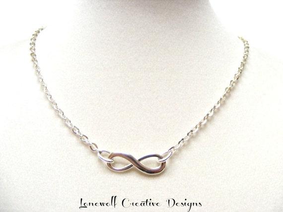 Tiffany Inspired Infinity Necklace Tiffani Inspired Infinity