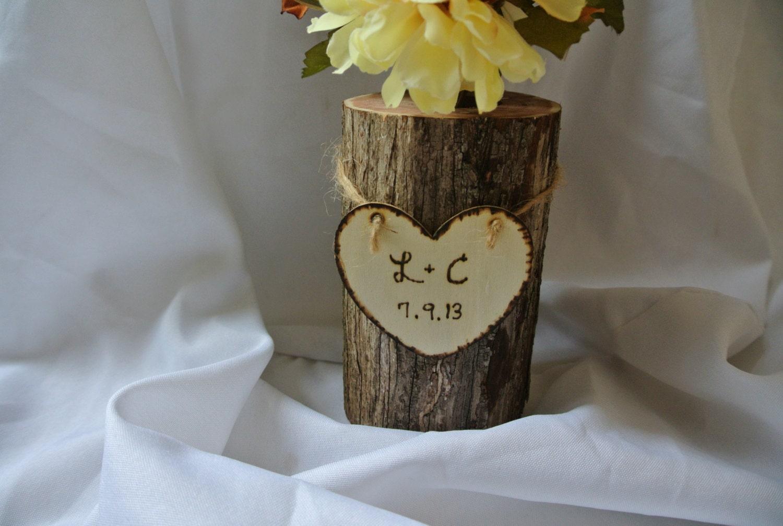 Personalised Vase Wedding Gift : Engagement Gifts Personalized Log Vase Master Bedroom Decor