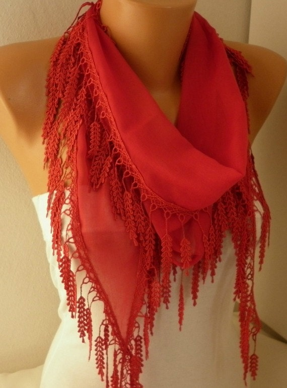 Spring Red Scarf Mother's Day Gift Fringe Scarf Shawl Scarf Cotton Cowl Scarf  For Her Women's Fashion Accessories best selling item