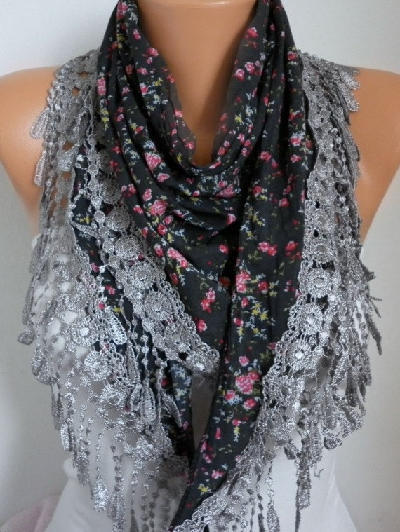 Floral  Scarf -  Spring Scarf  Cowl  Women Fashion Accessories