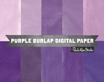 80% OFF SALE Purple Burlap Texture Digital Paper, Photoshop Textures, Commercial Use Background Clipart Images