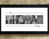 ALPHABET PHOTOGRAPHY LETTERS -  Family Name Print, Last Name Sign, Gift for Mom, Gift for Her