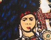 Edinburgh Pipers Tea Towel by Ettrick Valley 100% cotton Scotland Souvenir