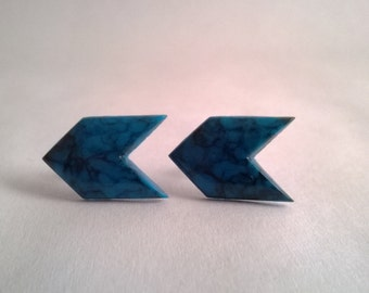 Geometric Arrow Turquoise Earrings