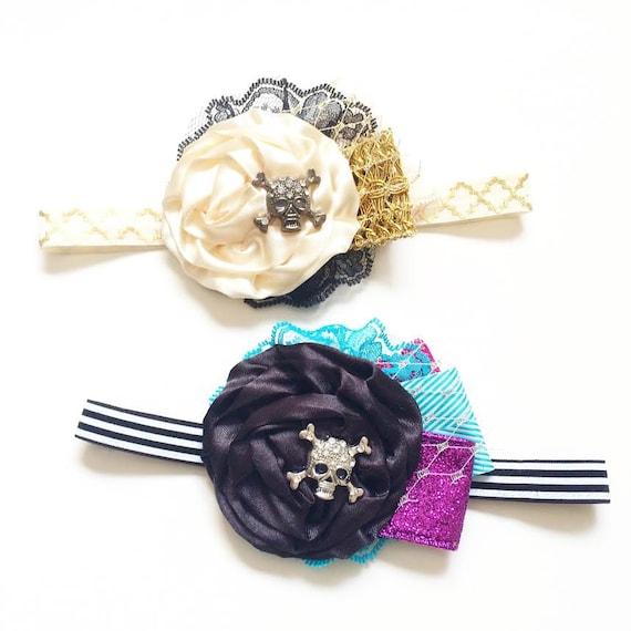 Pirate Fairy Headbands-  FW14, Pirate Fairy, Tinkerbell, Dress up, Halloween, Girl, Baby, Photoshoot Newborn, Photo prop