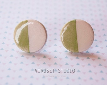 Ceramic stud jewelry earrings, Ceramic earrings, Jewelry most popular, Scandinavian earrings, Small earrings, Ceramics and pottery for women