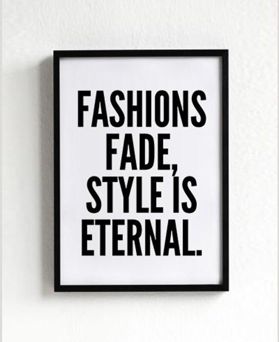 Fashion Print Style Wall Art Wall Decor Fashion Quote