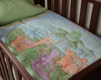 Dinosaurs at Play Quilt & Pillow Case