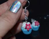 Blue cupcakes - earrings
