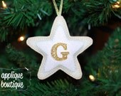 INSTANT DOWNLOAD, Machine Embroidery Design, In The Hoop, Star Sugar Cookie Christmas Ornament with Instructional PDF