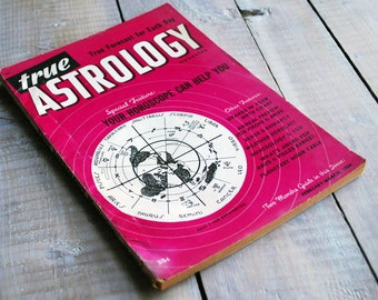 True Astrology Magazine, February March 1954 Issue, Aquarius Pisces Aries Birthday, 63 years old