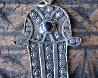 Black Moroccan Hand  charm  pendant