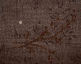 Forest at night, dark brown, fat quarter, pure cotton fabric