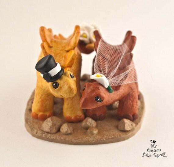 Etsy Dinosaur Wedding Cake Topper