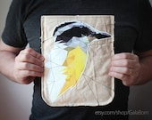 Art tablet 10 inch case - Brazilian birds - One of a kind - Great kiskadee - Yellow black - Birdy