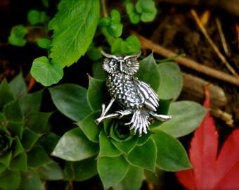 1960s Owl Brooch