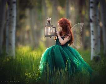 fairy dress tulle, wedding flowergirl dress, photo shoot dress, woodland dress, birthday, princess dress
