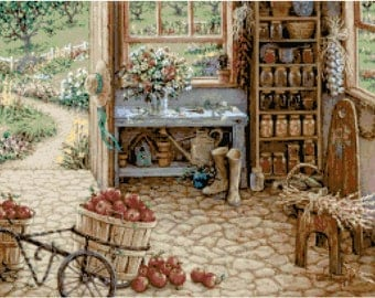 Country Garden Shed 11 Cross Stitch Pattern
