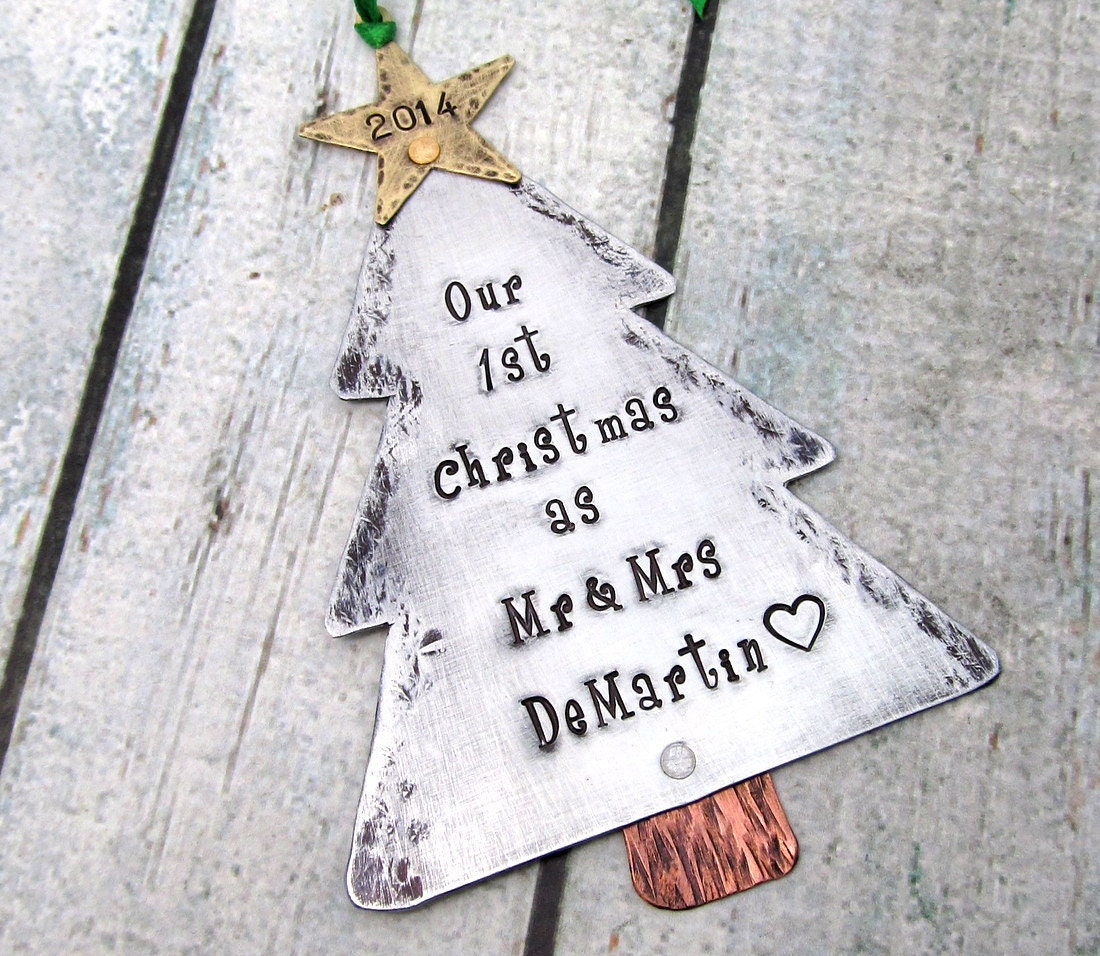 our first christmas ornament couples by firedupladieshammer