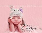 Happy Hippo Hat, Baby Photo Prop, Newborn Photo Prop, Newborn Animal Hat, Crochet Hippo Hat, Baby Shower Gift, Baby Girl Hippo Hat