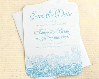 Waves Save the Date, Beach save the date, Beach Save the Dates, Nautical Save the Dates, Destination Wedding Save the Date