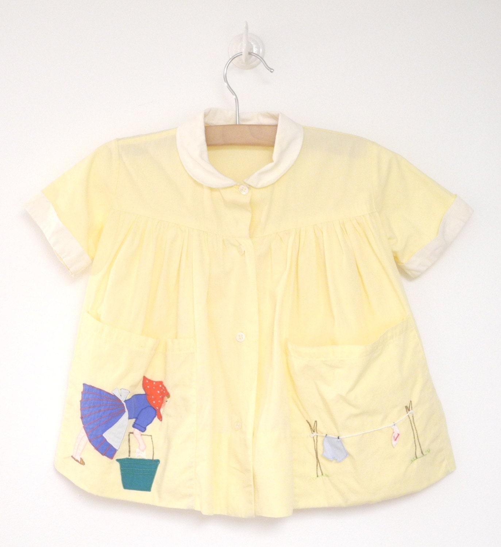 vintage baby clothes 1950 s bright yellow italian folk