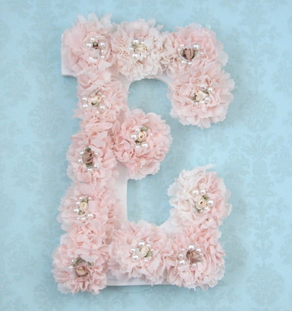 Shabby Chic Nursery Letters Shabby Chic Nursery Decor