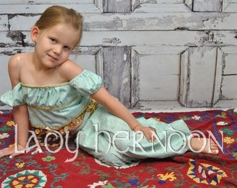 Jasmine Costume - Sizes 2T, 3T, 4T, 5, 6, 7, 8 and 10
