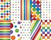 Rainbow Scrapbook Paper, Printable rainbow paper, printable rainbow scrapbook paper, gay pride paper, rainbow paper, colourful paper