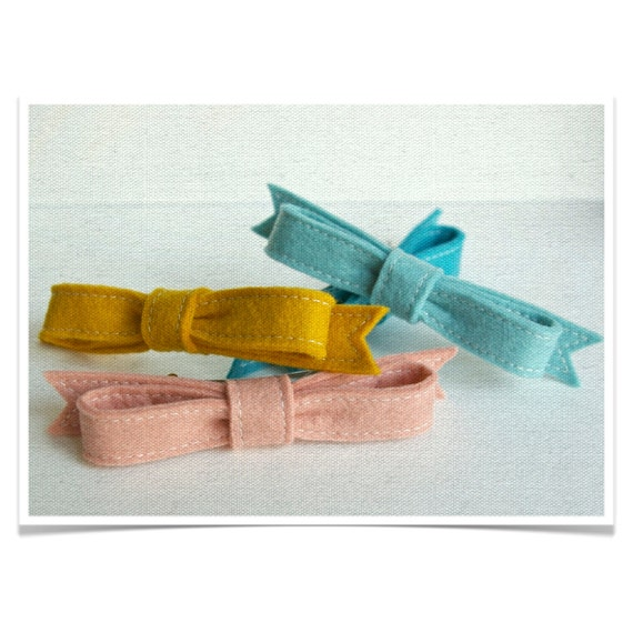 Felt Hair Bow Barrette ø Up to 25% Discount ø LoftFullofGoodies
