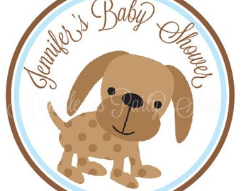 NEW - Puppy Baby Shower Favor Tags