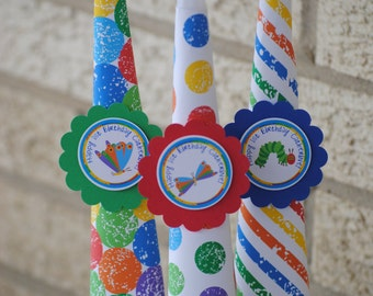 NEW - Set of 10, Hungry Caterpillar Party Blowers Favors Party Horns