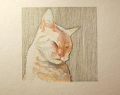 CUSTOM ORDER. Pet portrait, original drawing/watercolor