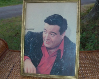 Framed Jackie Gleason Young Shot Fifites Hollywood Head Shot Period Frame Mid Century Movie Star