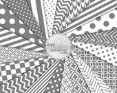 MEDIUM GRAY - Digital Paper Printable Background Designs - Digital Neutral Gray Scrapbook Paper Patterns - Instant Download (DP202A)
