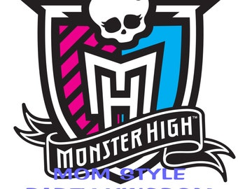 Monster High iron on transfer for white t-shirts #1
