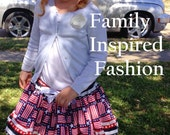 baby girl Fourth of July skirt