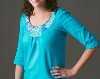 Rose T-Shirt and Dress PDF Pattern Women's XS S M L XL Blouse