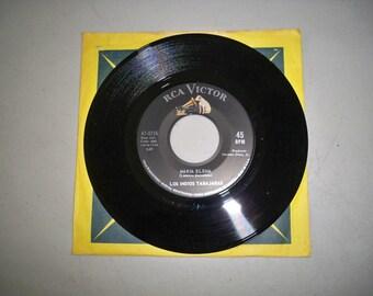 """Vintage 1960's 45 rpm Record """"Maria Elena"""" by Los Indios Tabajaras"""