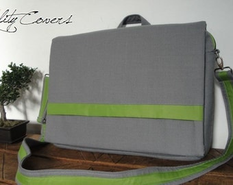 CUSTOMIZABLE for color Fabric and Size Messenger bag / Convertible Backpack / laptop COMPARTMENT- Padded - 3 exterior and 7 interior Pockets