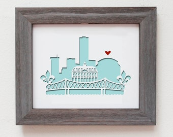 New Orleans, LA. Personalized Gift or Wedding Gift